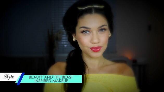 Maquillaje basado en la Bella y la Bestia (Beauty and the Beast Inspired Makeup) | Disney Aja