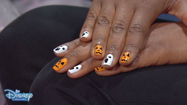 Halloween How To Spooky Nail Art Disney Channel Disney