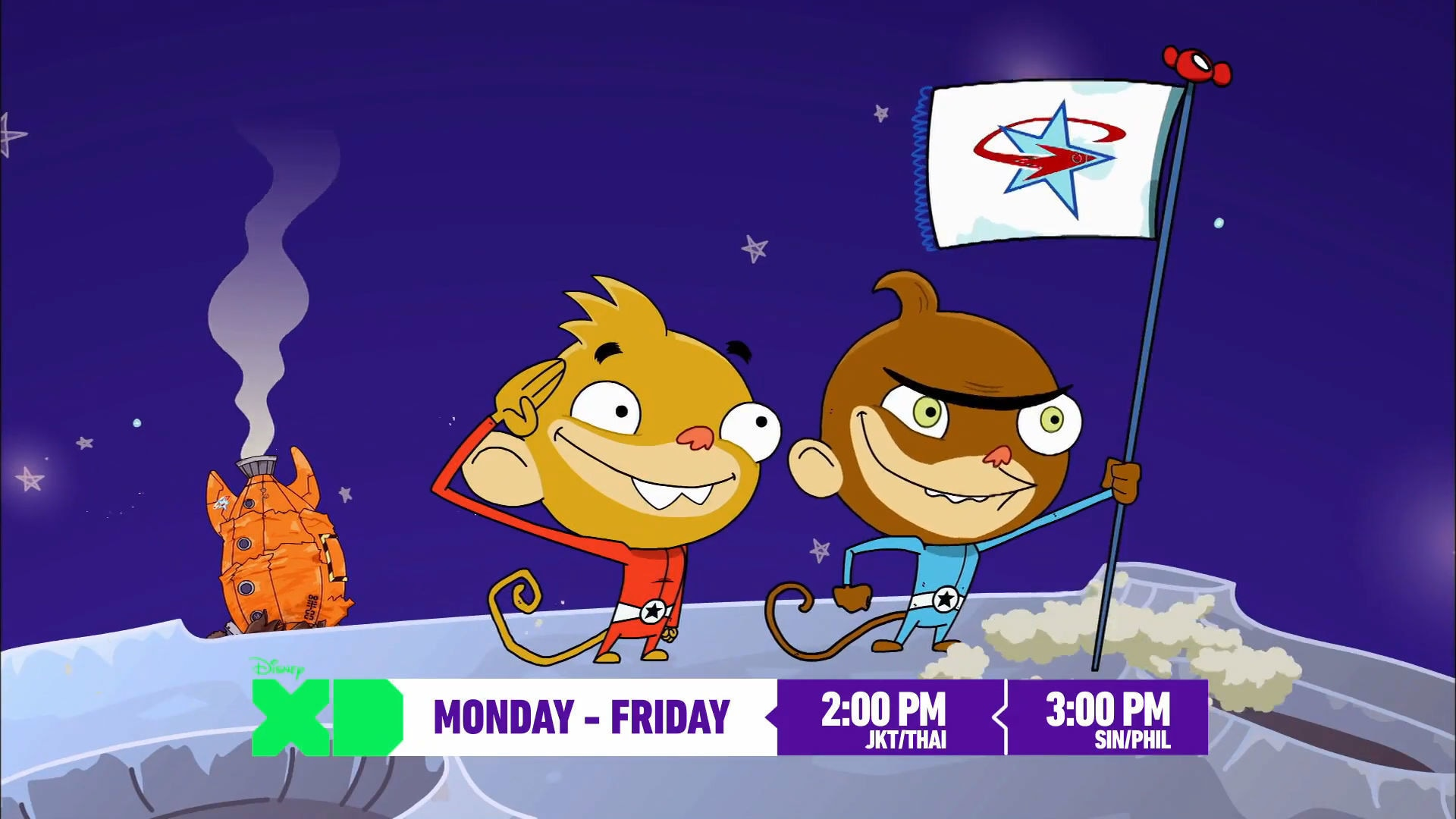 Rocket Monkeys ทาง Disney XD