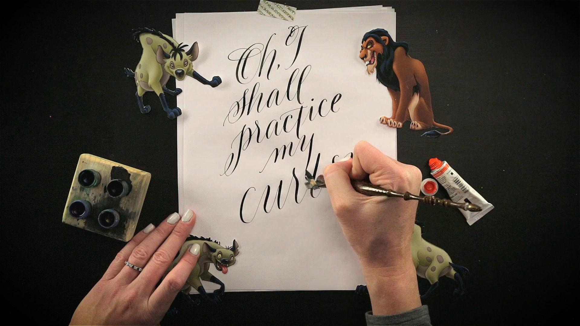 Calligraphy Artist Creates Amazing Disney Villain Quotes Part 1