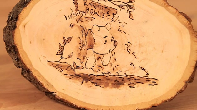 Winnie The Pooh Wood Burning Art Disney Lol