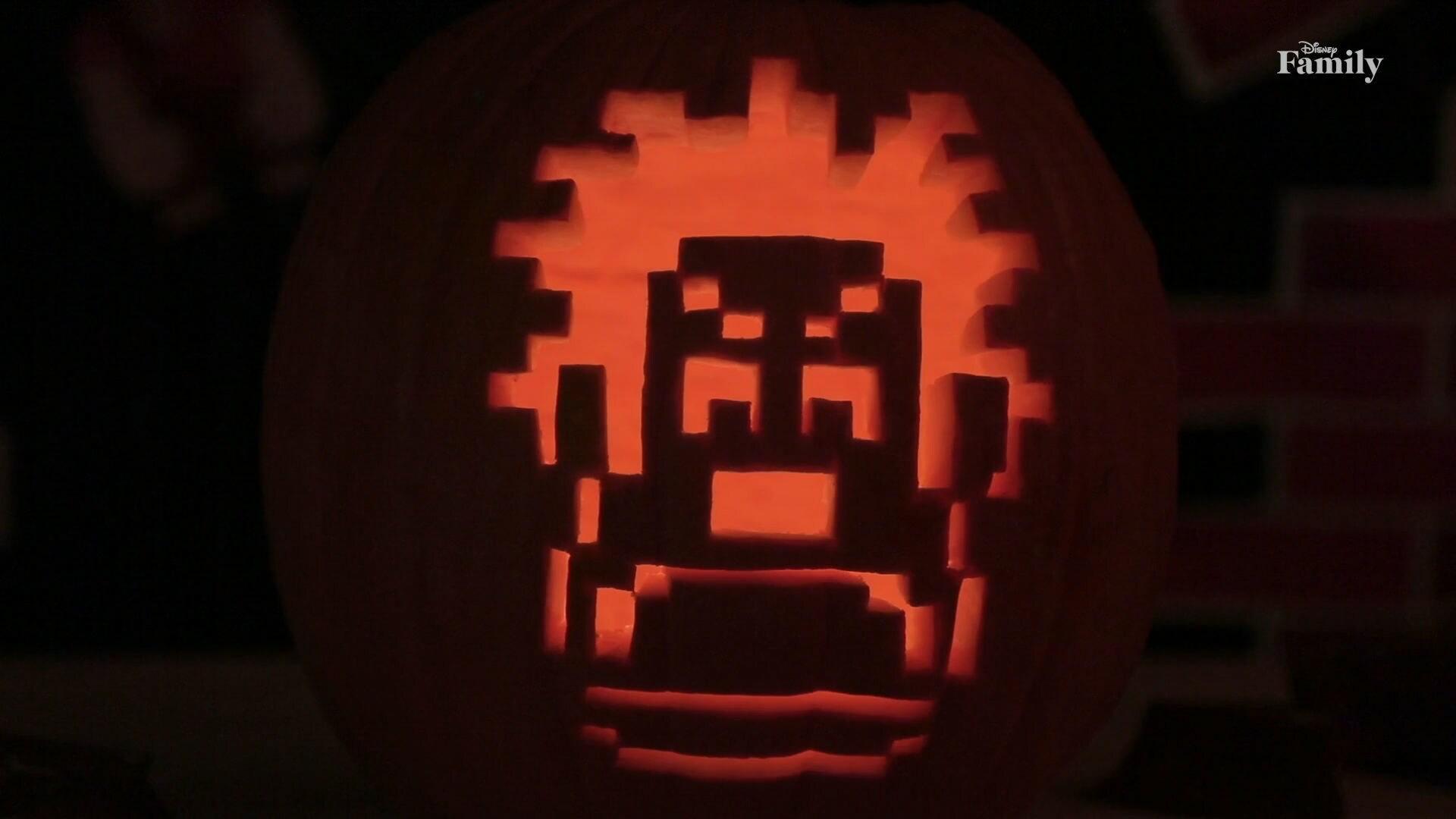Wreck-It Ralph Pumpkin Carving | Disney Family DIY