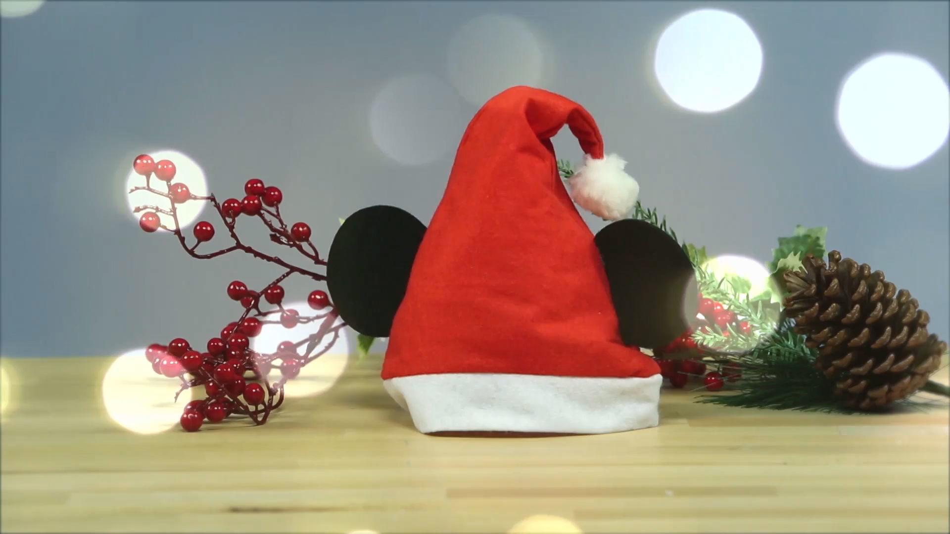 Maak een Mickey-kerstmuts