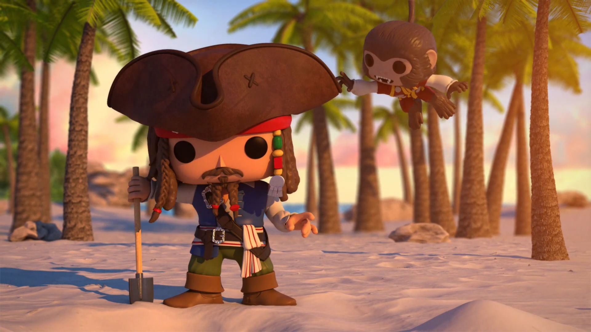 Watch Captain Jack Sparrow search for pirate booty and Disney Treasures!