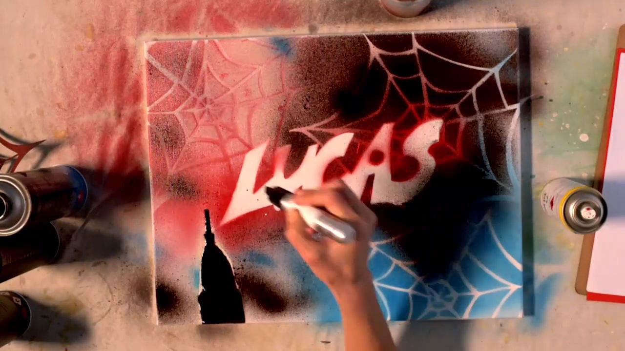 DIY Spider-Man Graffitti Art