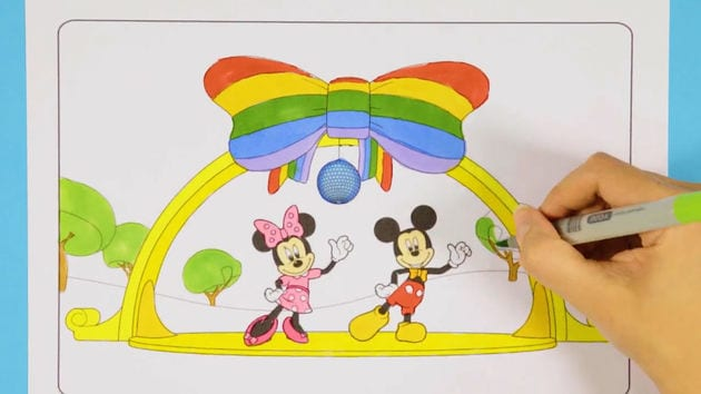 Mickey and Minnie Rainbow Disco | Disney Junior Colouring Club