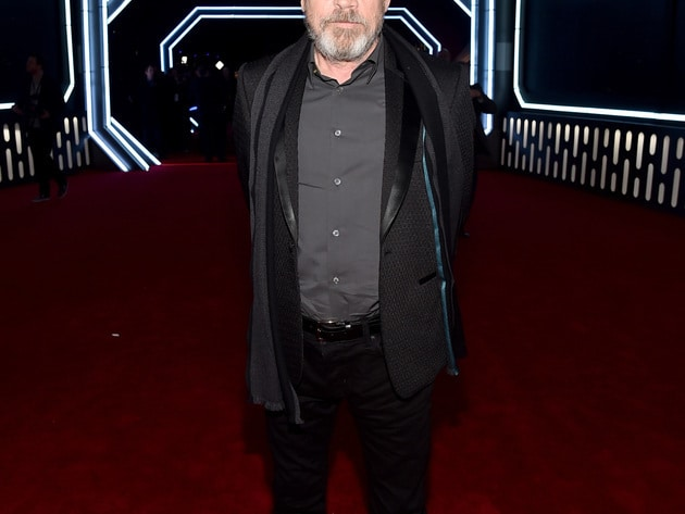 Return of the Jedi! Original cast member Mark Hamill (Luke Skywalker) joined the new cast on the ...