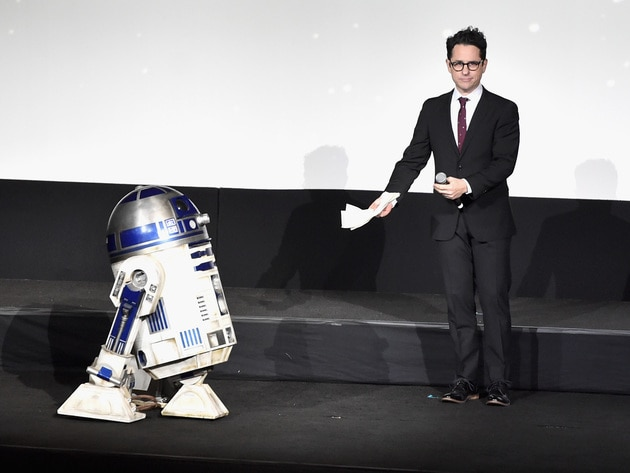 The film's director J.J. Abrams introduces fan favourite droid R2-D2.