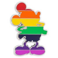 Image of Mickey Mouse Rainbow Standing Pin # 1