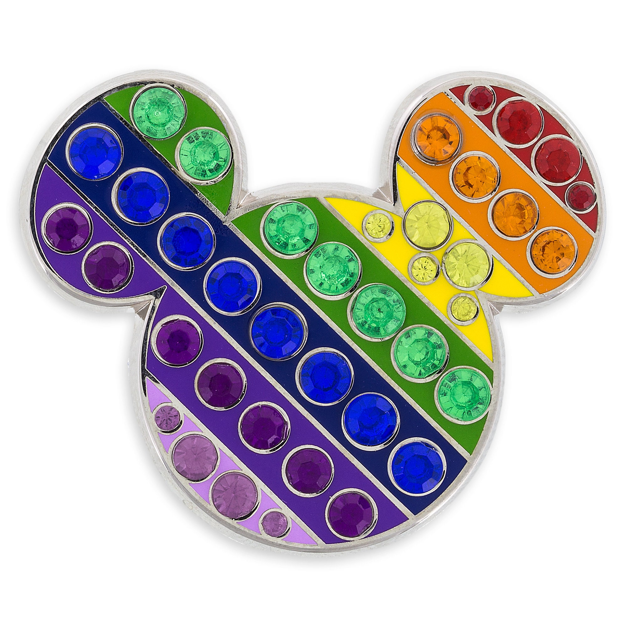 Product Image of Mickey Mouse Rainbow Icon Pin # 1