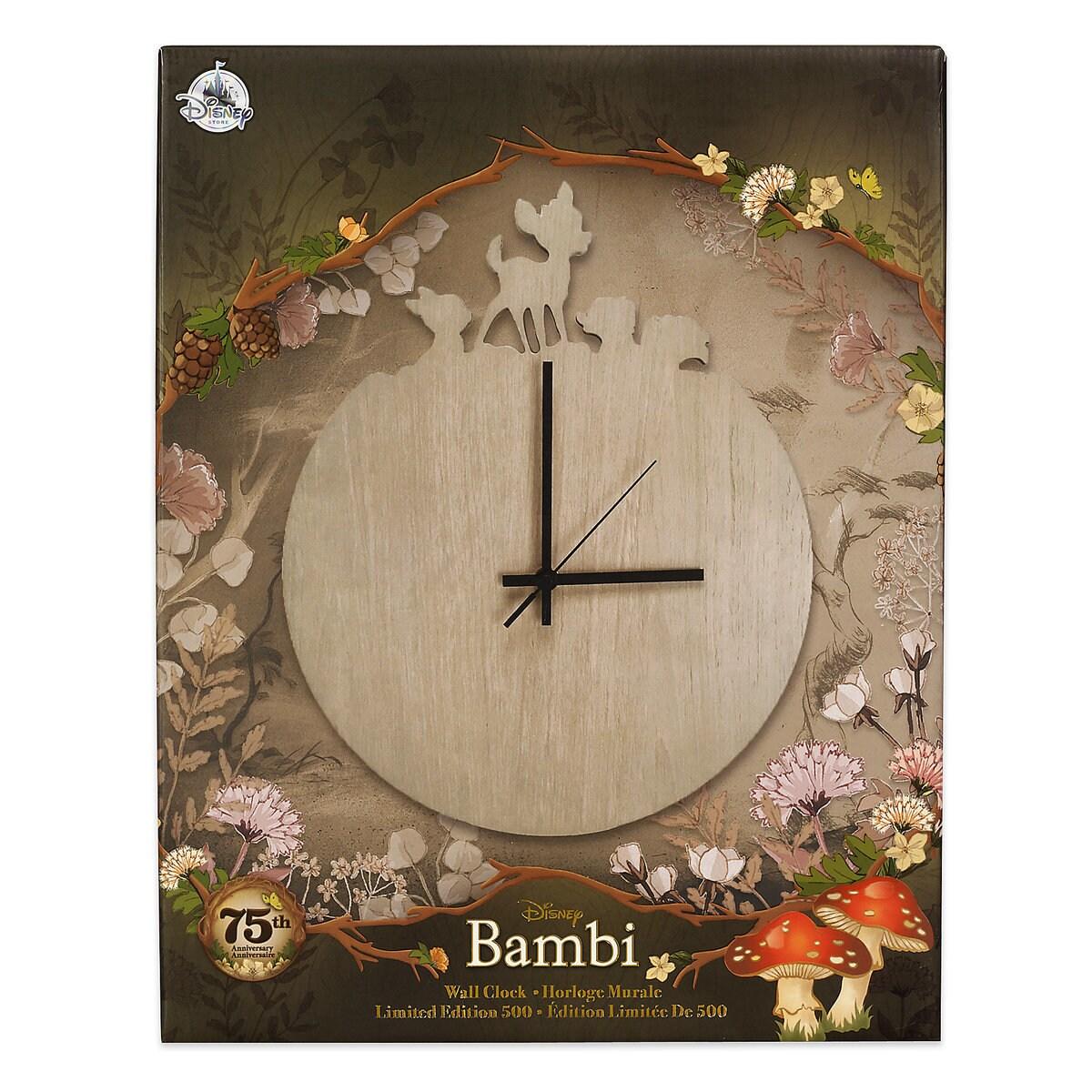Bambi 75th anniversary wall clock limited edition shopdisney bambi 75th anniversary wall clock limited edition amipublicfo Choice Image