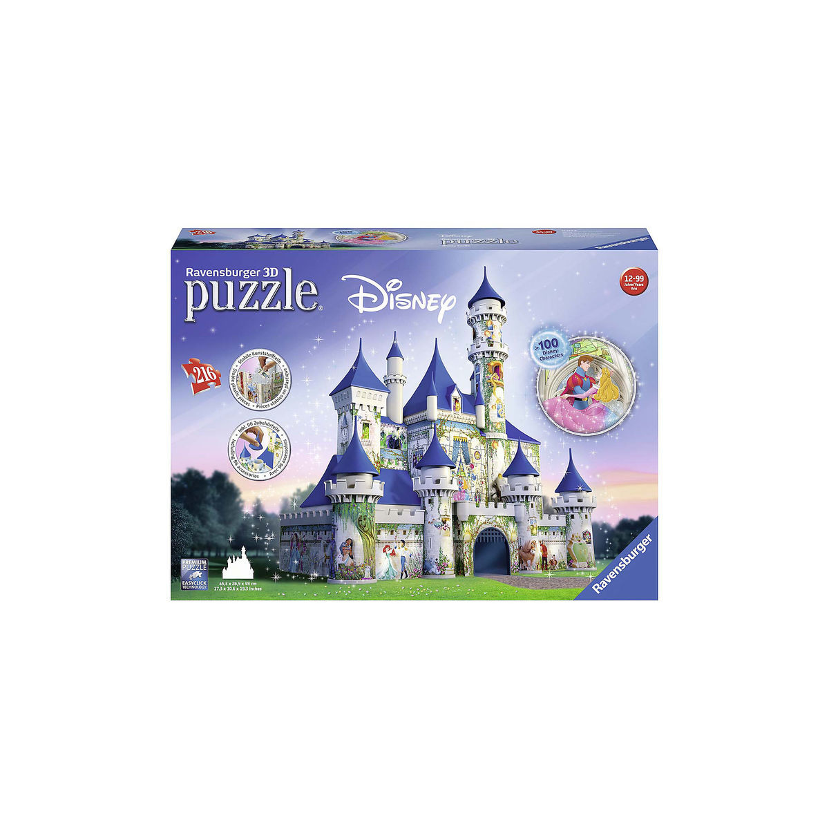 Thumbnail Image Of Disney Castle 3D Puzzle By Ravensburger 1