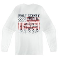 Mickey Mouse Stars and Stripes Long Sleeve Tee for Men - Walt Disney World