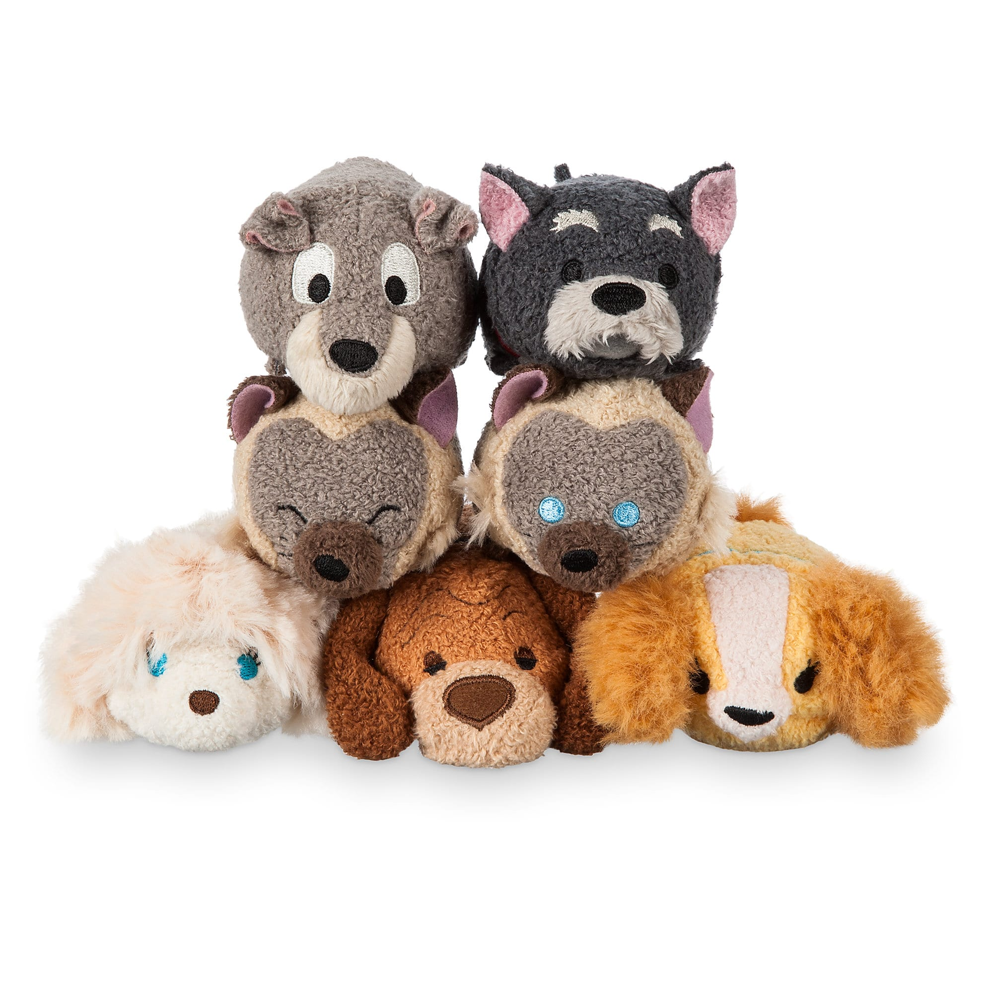 Lady and the Tramp Mini ''Tsum Tsum'' Plush Collection
