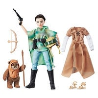 Image of Princess Leia Organa & Wicket the Ewok Action Figure Set - Star Wars: Forces of Destiny # 2
