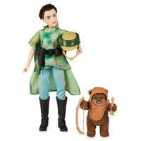 Image of Princess Leia Organa & Wicket the Ewok Action Figure Set - Star Wars: Forces of Destiny # 4