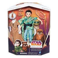 Image of Princess Leia Organa & Wicket the Ewok Action Figure Set - Star Wars: Forces of Destiny # 7