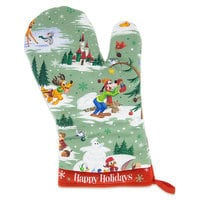 Santa Mickey Mouse and Friends Happy Holidays Oven Mitt