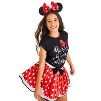 Minnie Mouse Cap Sleeve Tee for Tweens