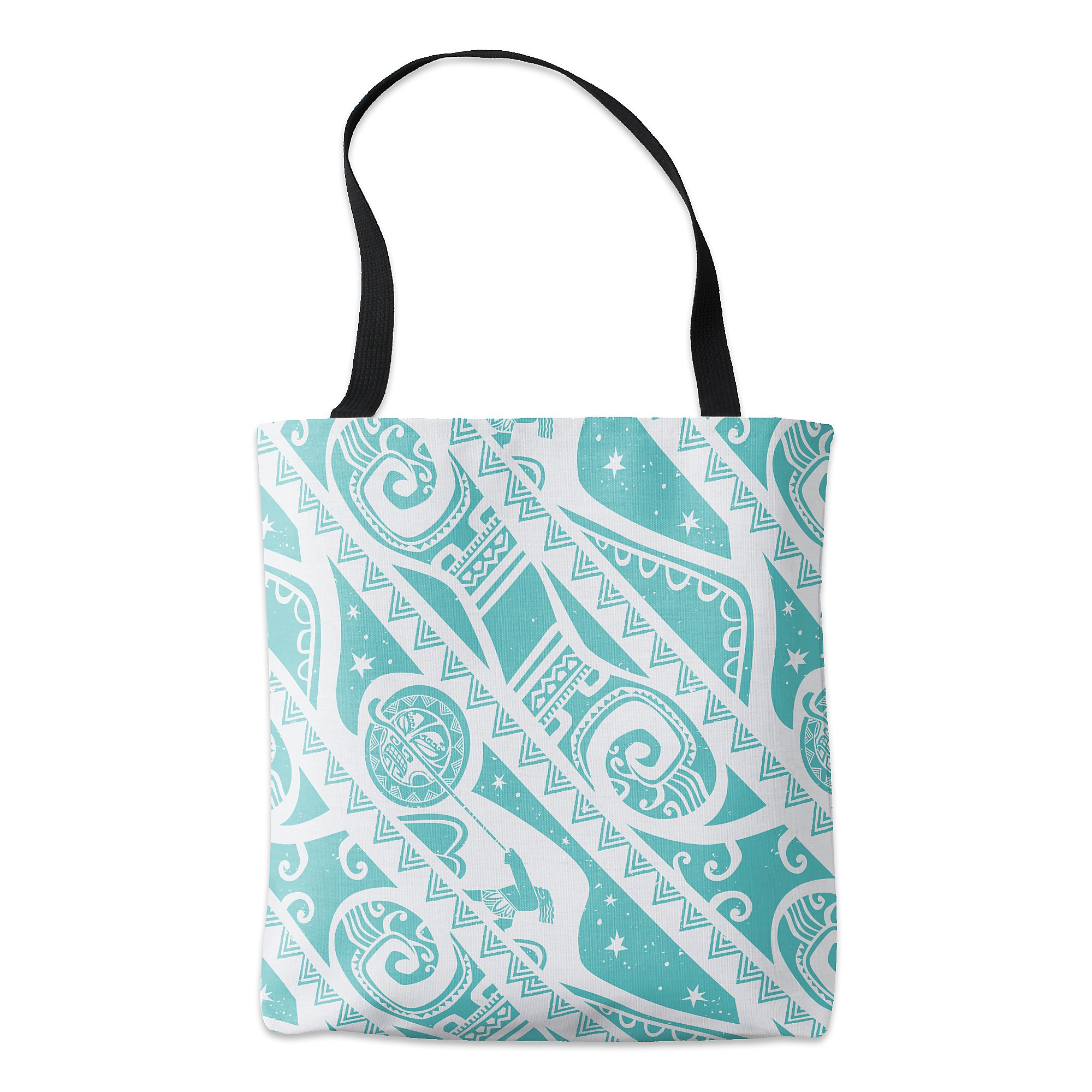 Moana Teal Aztec Pattern Tote - Customizable