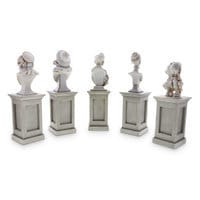 Image of The Haunted Mansion Pillar Bust Set # 2