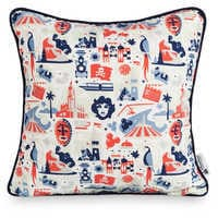 Image of Disney Parks Icons Pillow # 1