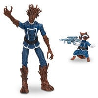 Groot and Rocket Raccoon - Marvel Legends Series Action Figure Set - Guardians of the Galaxy - 6''
