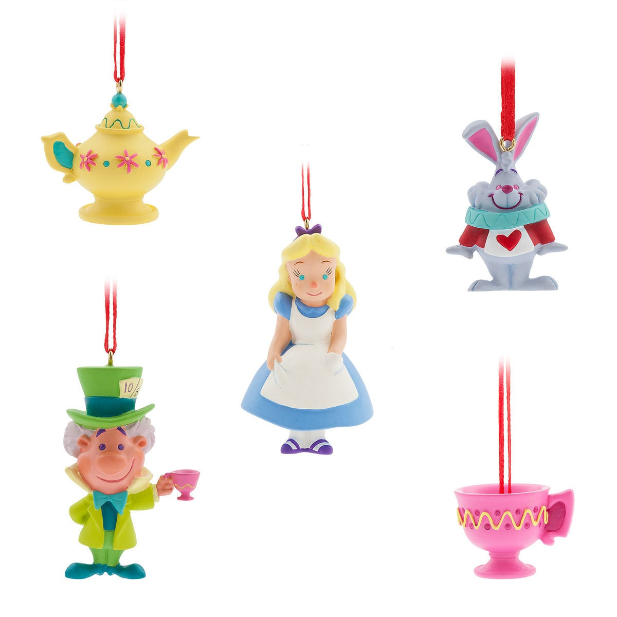 Alice in Wonderland Sketchbook Mini Ornament Set