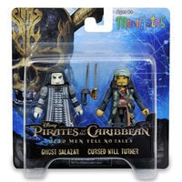 Pirates of the Caribbean: Dead Men Tell No Tales Minimates Set - Ghost Salazar and Cursed Will Turner