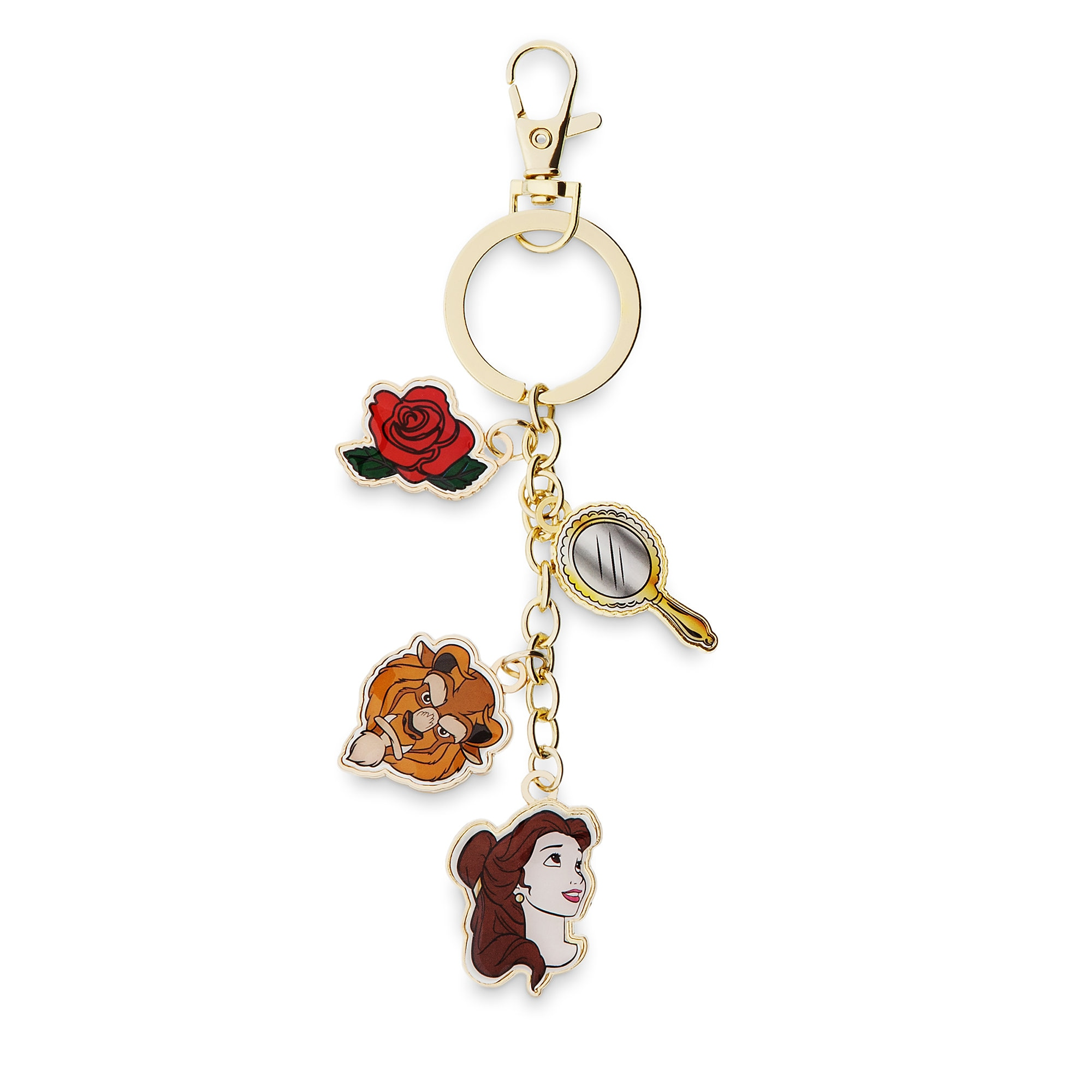 Beauty and the Beast Keychain by Danielle Nicole