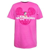 Mickey Mouse Walt Disney World Tee for Adults - Pink