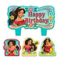 Image of Elena of Avalor Birthday Candle Set # 1