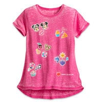 Mickey and Minnie Mouse Emoji Tee for Girls - Disney Cruise Line