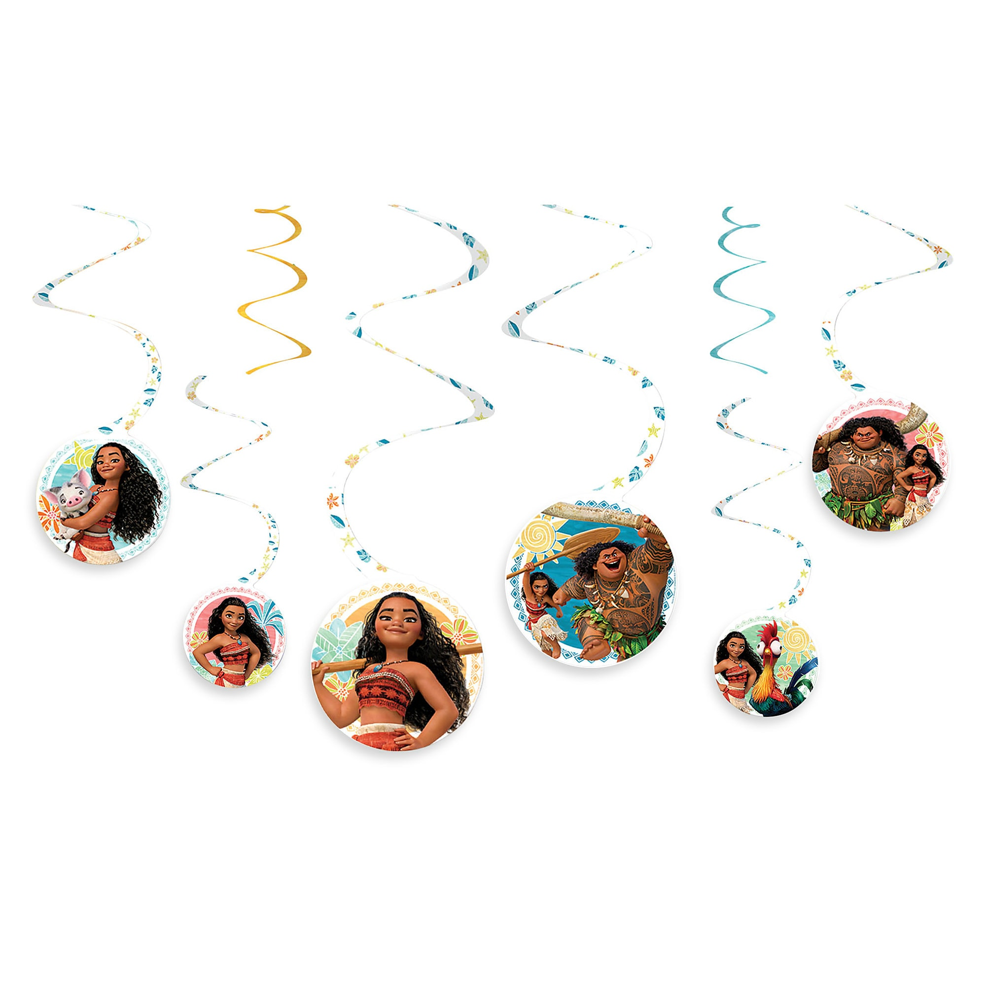 Moana Swirl Party Decorations - 2-Pack