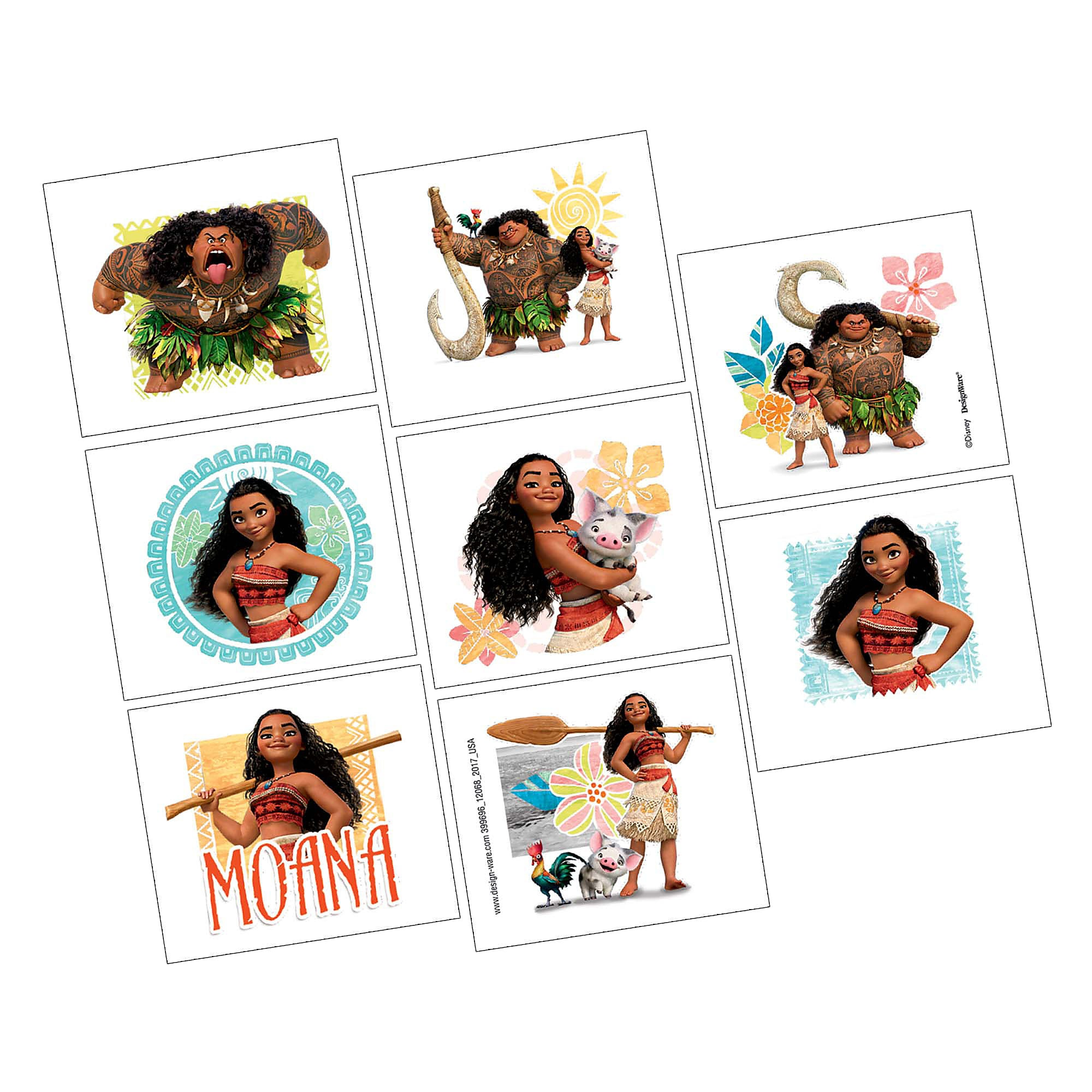 Moana Tattoos - 2-Pack