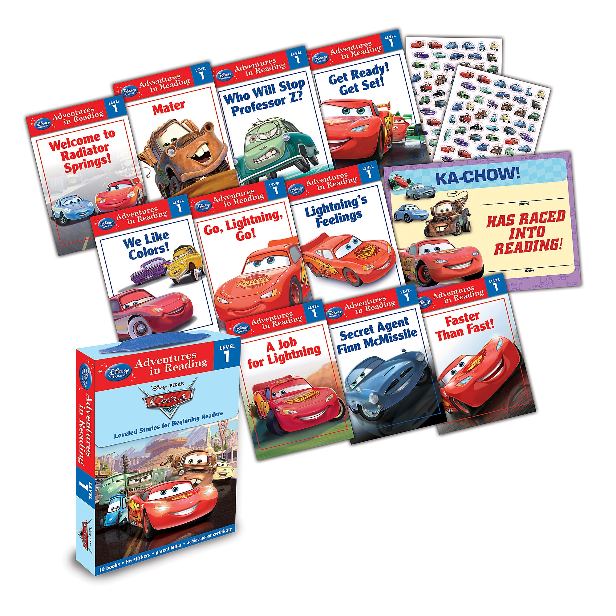 Cars: Adventures in Reading Boxed Set - Level 1