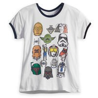 Star Wars Marker Heads Ringer T-Shirt for Women by Mighty Fine