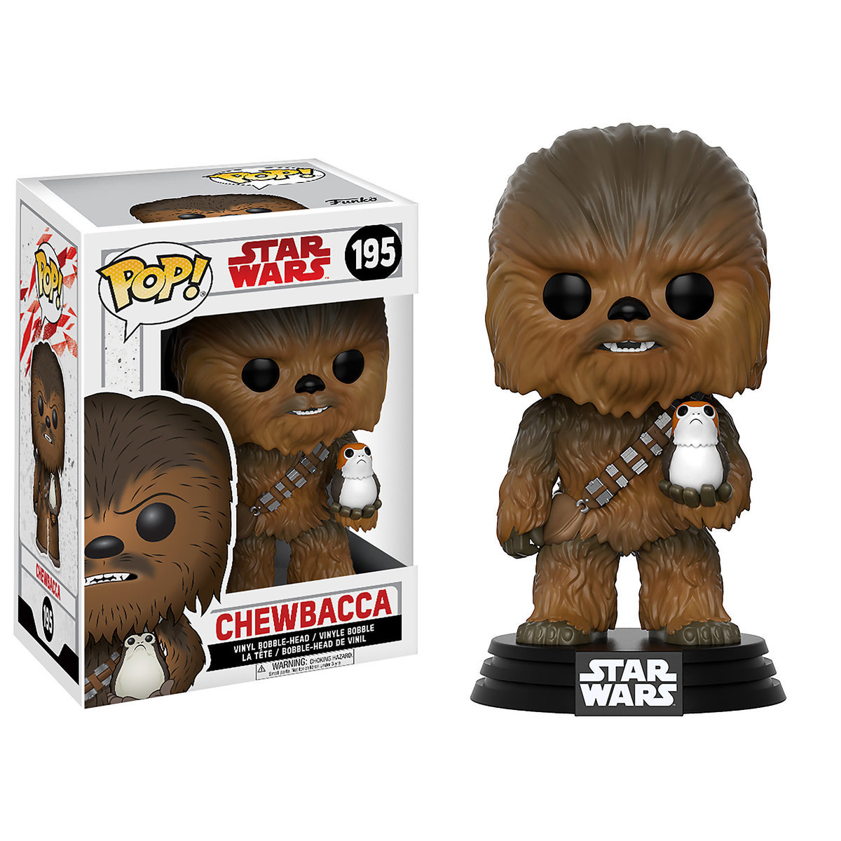Chewbacca Pop! Vinyl Bobble-Head Figure by Funko - Star Wars: The Last Jedi