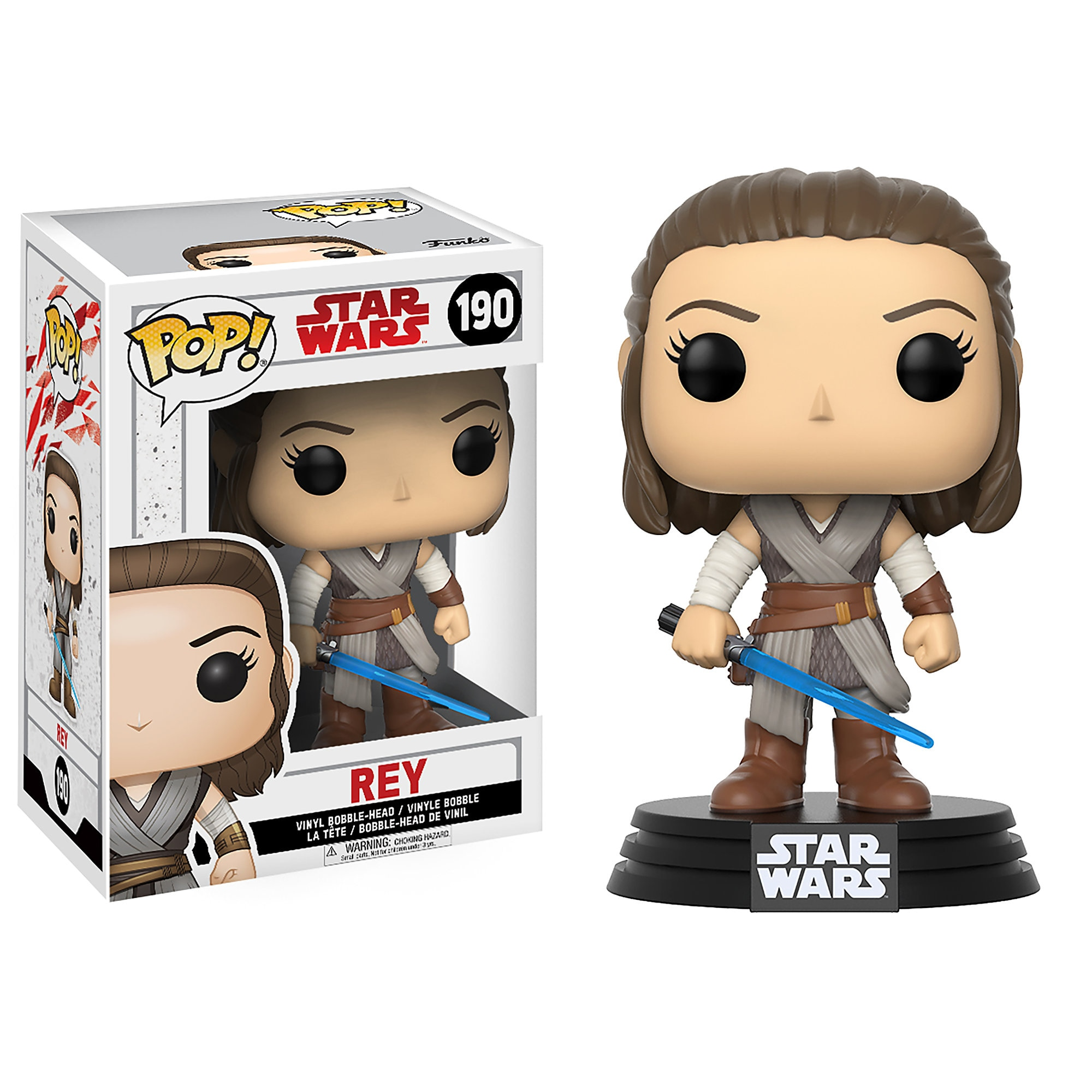 Rey Pop! Vinyl Bobble-Head Figure by Funko - Star Wars: The Last Jedi
