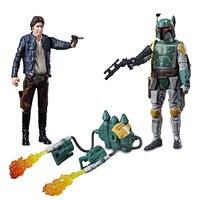Han Solo & Boba Fett Force Link Action Figure Set by Hasbro - Star Wars - 3 3/4''