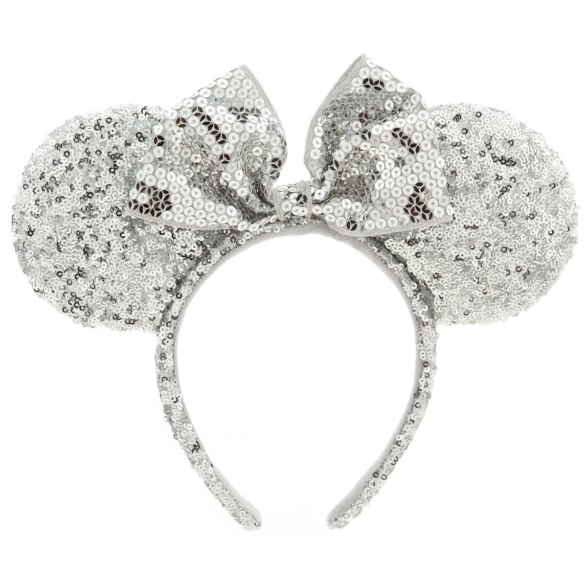 minnie mouse ear headband silver sequins shopdisney