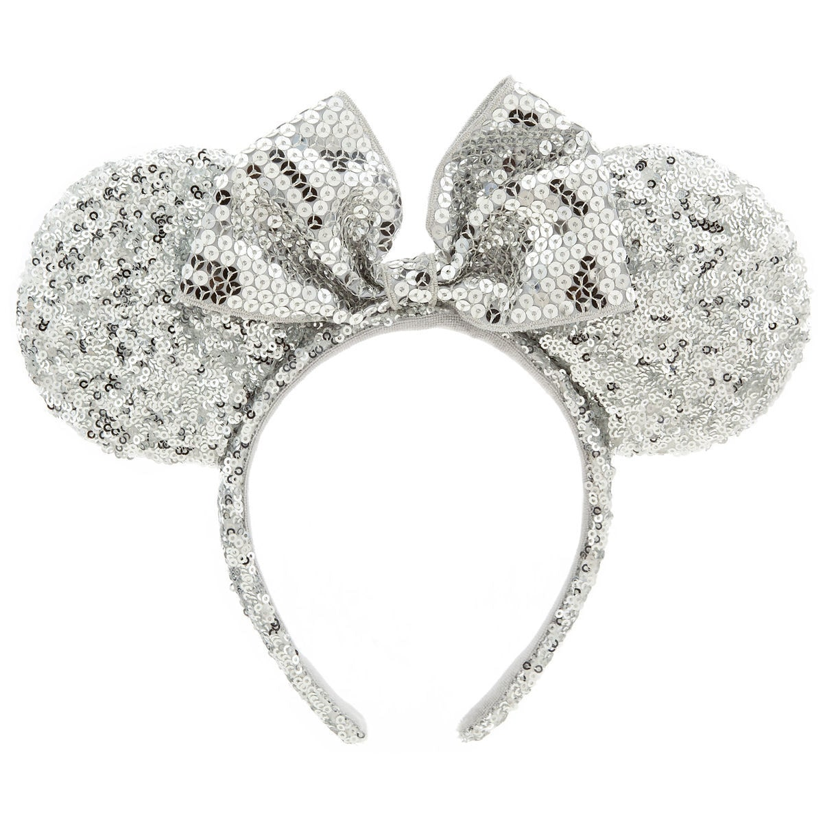 Product Image of Minnie Mouse Ear Headband - Silver Sequins   1 822c2a9bf66