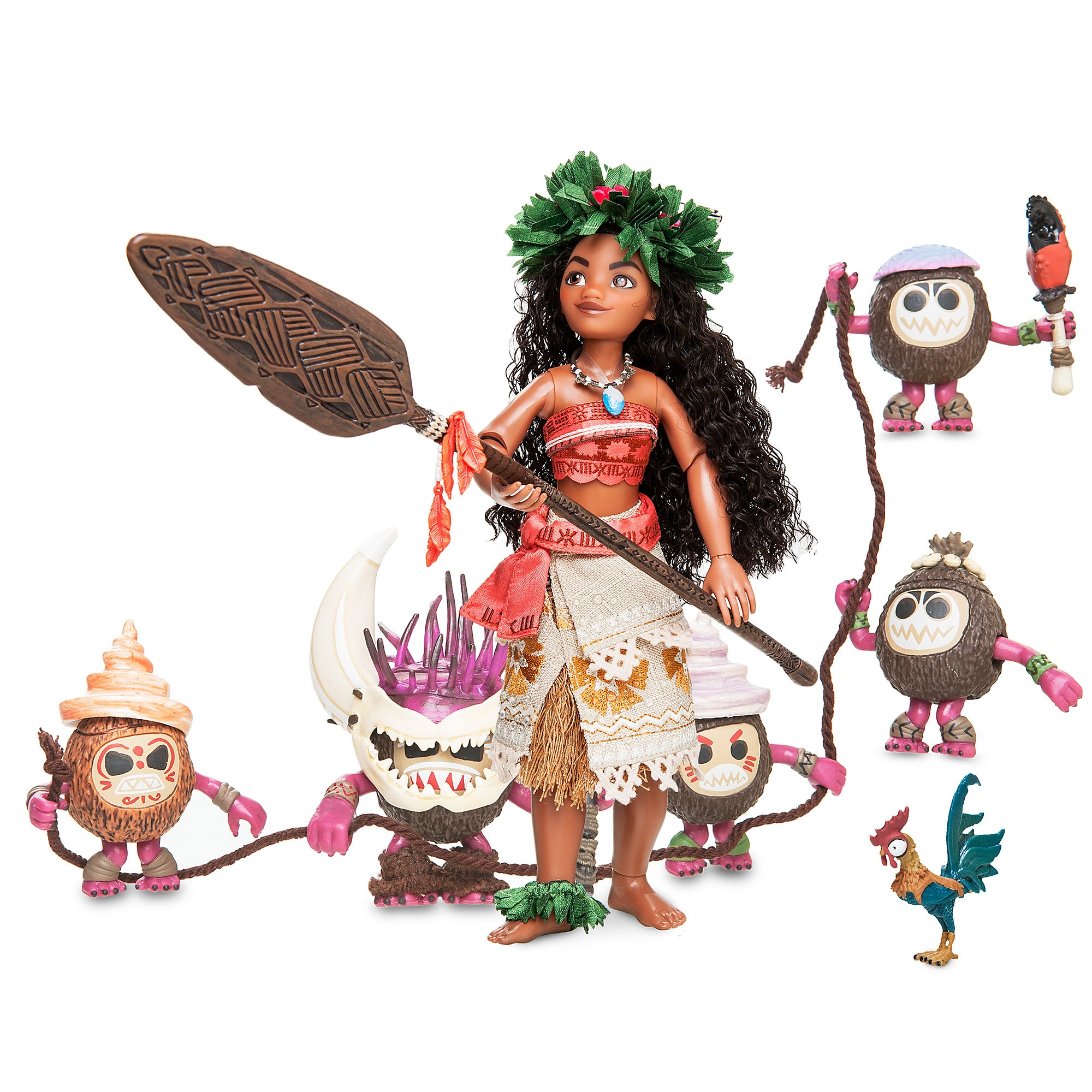 Moana and Heihei Doll Set - Disney Designer Fairytale Collection - Limited Edition