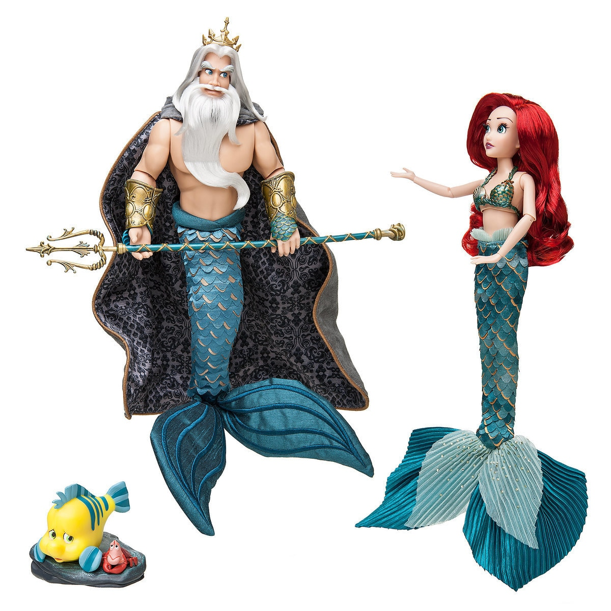 598e9da5c51 Product Image of Ariel and Triton Doll Set - Disney Designer Fairytale  Collection - Limited Edition