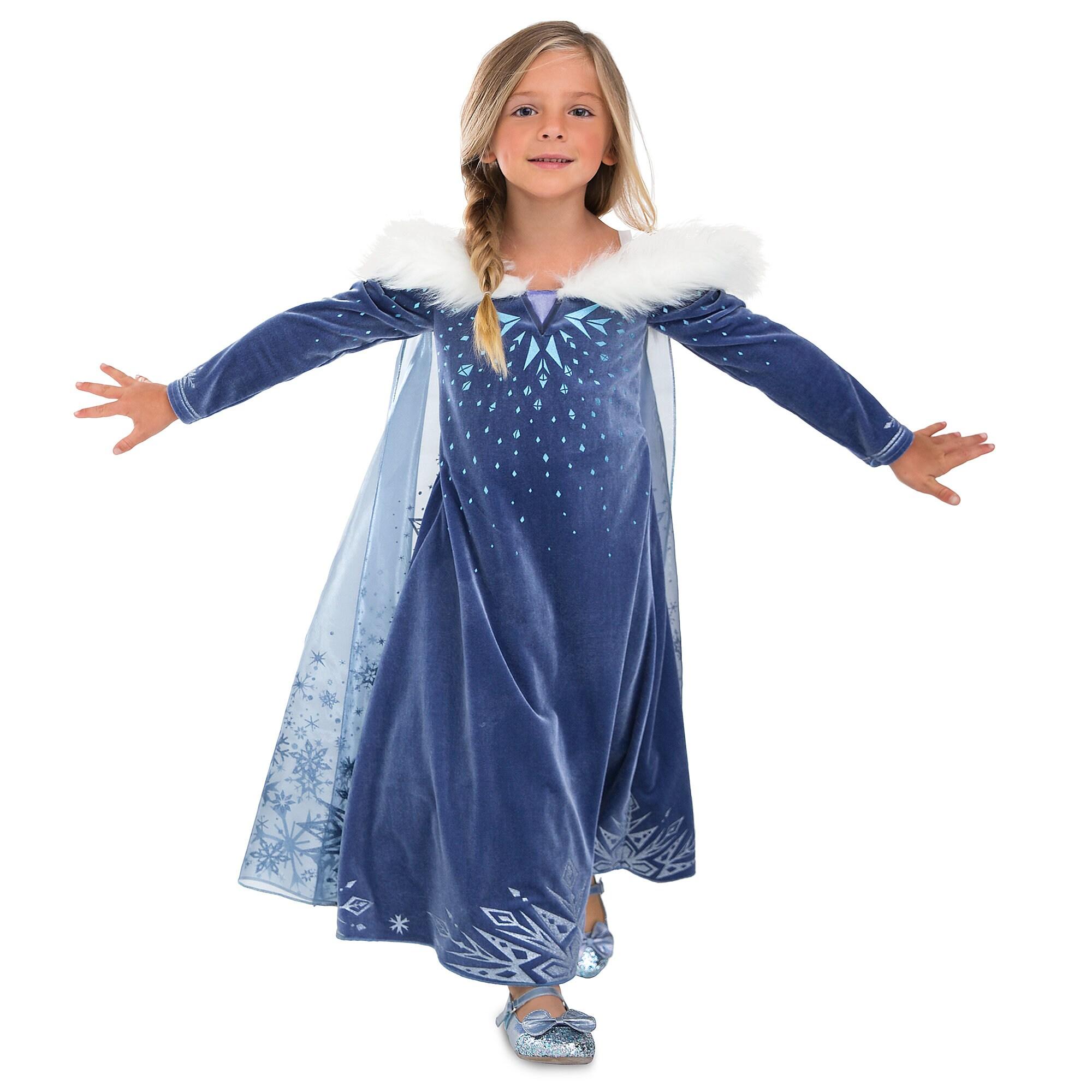 Delightful Product Image Of Elsa Deluxe Costume For Kids   Olafu0027s Frozen Adventure # 1