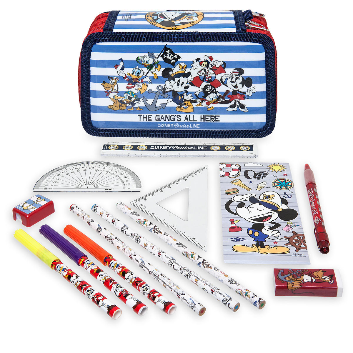 Product Image Of Mickey Mouse And Friends Stationery Kit Disney Cruise Line 1