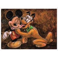 Image of ''Mickey and Pluto'' Giclée by Darren Wilson # 1