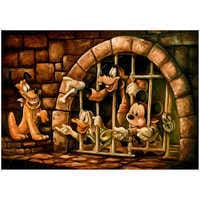 Image of Mickey Mouse Pirates of the Caribbean ''Here Poochie'' Giclée by Darren Wilson # 1
