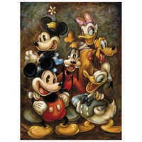 Image of ''Mickey Mouse and Friends'' Giclée by Darren Wilson # 1