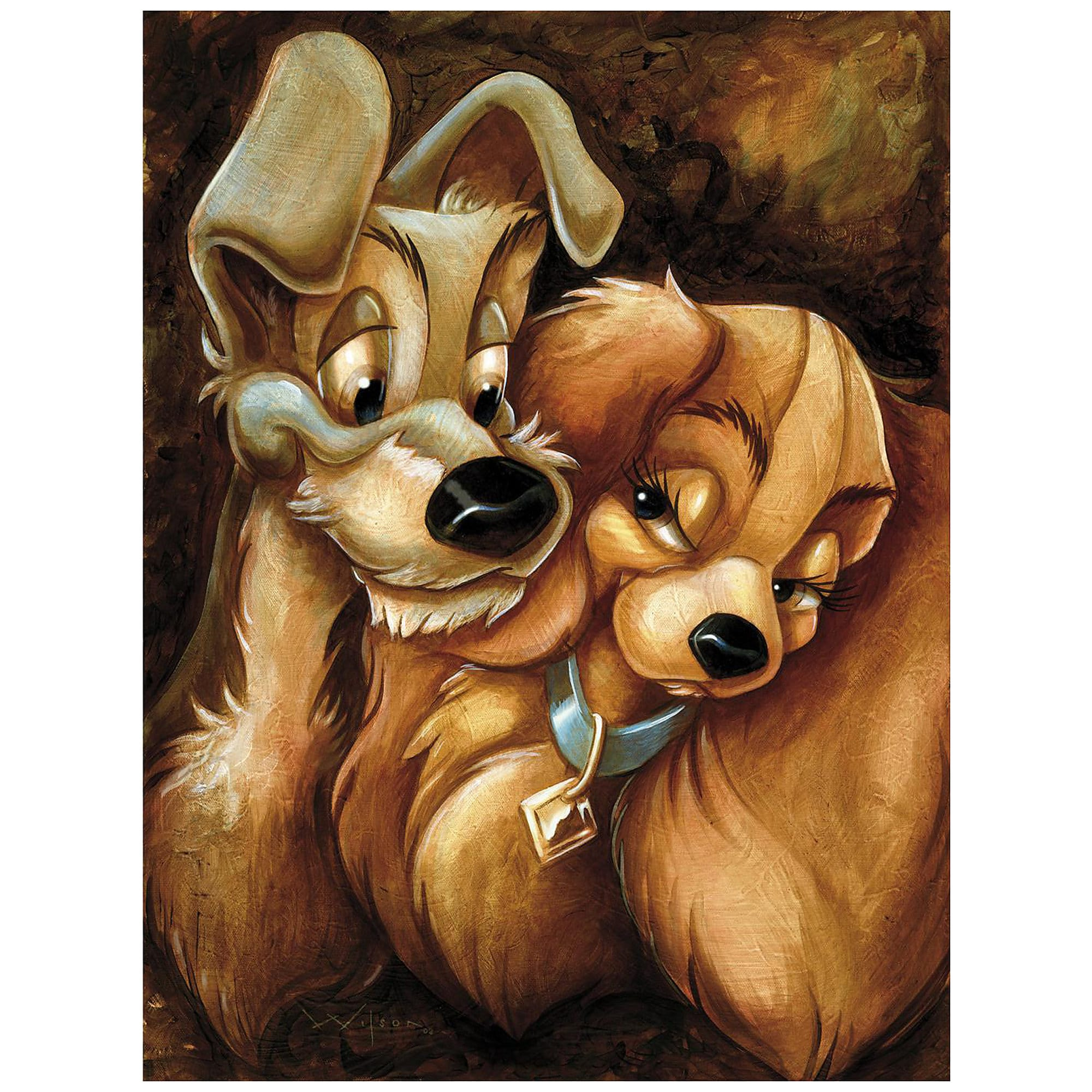 Lady And The Tramp Giclee By Darren Wilson Buy Now Dis Merchandise News